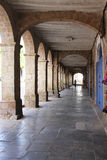 Covered Walkway with Arches in Cuzco, Peru Royalty Free Stock Images