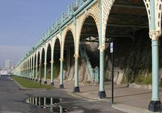 Covered walkway. Brighton. England Stock Photo