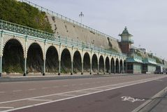 Covered walkway on Brighton Seafront Royalty Free Stock Photos