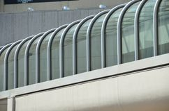 Covered walkway of a building in Portland, Oregon Royalty Free Stock Photos