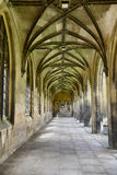 Covered walkway with Gothic arches Royalty Free Stock Images