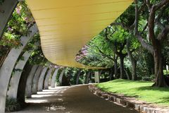 Covered walkway park brisbane royalty free stock images