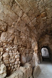 Covered way in amphitheater in Beit Guvrin Royalty Free Stock Images