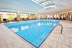 Covered winter pool. SPA Stock Photography
