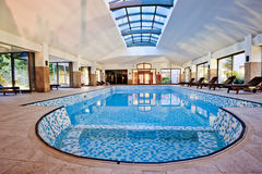 Covered winter pool. SPA Royalty Free Stock Image