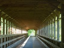 Inside a Covered Bridge Stock Photography