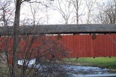 Covered Wooden Bridge Stock Image