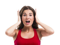 Covering ears Royalty Free Stock Image