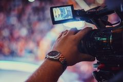 Video camera of the event Stock Images