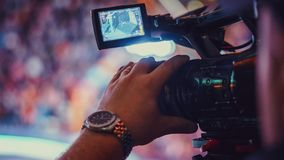Video camera of the event Royalty Free Stock Images