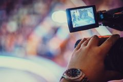 Video camera of the event Royalty Free Stock Photos