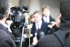 Media interview Royalty Free Stock Photo