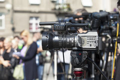 Covering an event with a video camera Royalty Free Stock Photos