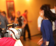 Covering an event with a video camera Stock Image
