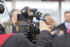 Covering an event with a video camera Stock Images