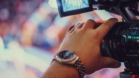 Video camera of the event Royalty Free Stock Photo