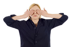 Covering Eyes Stock Image