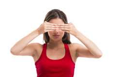 Covering eyes Royalty Free Stock Photo