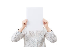 Covering face emotion stock images