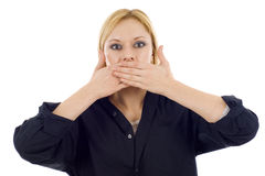 Covering Mouth Royalty Free Stock Photos