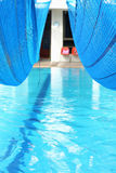 Covering the pool. Stock Images