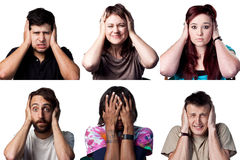 Covering their ears Stock Images
