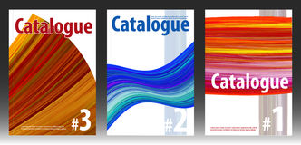 Covers for abstract catalog or magazine Stock Image