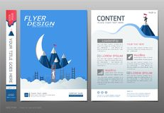 Covers book design template vector, Business engineering concepts, Use for brochure, annual report, flyer leaflet, magazine Stock Image