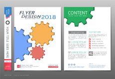 Covers book design template vector, Business engineering concepts, Use for brochure, annual report, flyer leaflet, magazine Stock Images