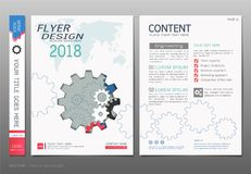 Covers book design template vector, Business engineering concepts, Use for brochure, annual report, flyer leaflet, magazine Royalty Free Stock Photo
