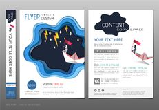 Covers book design template vector, Leadership success concept, Use for your design all media. Stock Image
