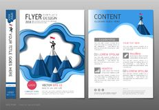 Covers book design template vector, Leadership success concept, Use for your design all media. Stock Images