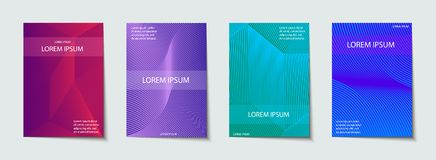 Covers design set. Abstract, minimal, geometric pattern. Royalty Free Stock Photos