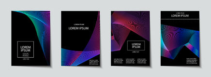 Covers design set. Abstract, minimal, geometric pattern. Trendy Covers set. Abstract, geometric, halftone pattern. Simple shapes with Modern, Minimal Design Stock Photo