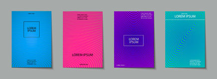 Covers design set. Abstract, minimal, geometric pattern. Trendy Covers set. Abstract, geometric, halftone pattern. Simple shapes with Modern, Minimal Design Royalty Free Stock Photography
