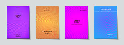 Covers design set. Abstract, minimal, geometric pattern. Trendy Covers set. Abstract, geometric, halftone pattern. Simple shapes with Modern, Minimal Design Stock Images