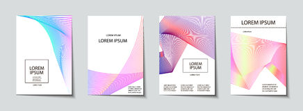 Covers design set. Abstract, minimal, geometric pattern. Trendy Covers set. Abstract, geometric, halftone pattern. Simple shapes with Modern, Minimal Design Royalty Free Stock Photos