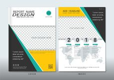 Covers design with space for photo background. Covers design with space for photo background, Can be adapt to annual report, brochure, flyer, leaflet, fact royalty free illustration
