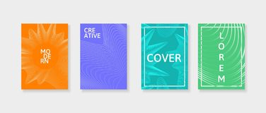 Covers with geometric lines. Applicable for Banners, Placards, Posters and Flyers. Stock Photography