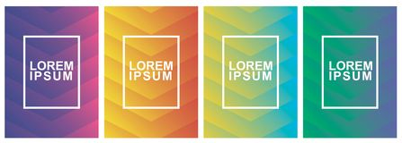 Covers modern abstract design templates set. Futuristic minimal geometric compositions. Eps10 vector illustration. stock photo