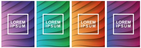 Covers modern abstract design templates set. Futuristic minimal geometric compositions. Eps10 vector illustration. stock image