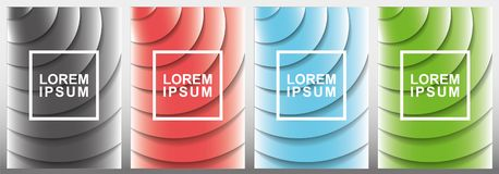 Covers modern abstract design templates set. Futuristic minimal geometric compositions. Eps10 vector illustration. royalty free stock image