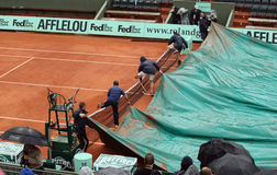 Covers pulled at Roland Garros 2010 Royalty Free Stock Images