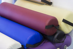 Covers for punching bags. Colorful Covers for punching bags stock images