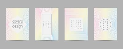 Covers set. Poster template geometric design. Abstract  Backgroung Eps10  Royalty Free Stock Photos