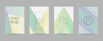 Covers set. Poster template geometric design. Abstract  Backgroung Eps10. Minimal covers set. Poster template geometric design. Abstract  Backgroung Eps10 Stock Image