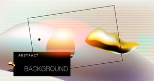 Abstract background with bauhaus, futuristic and hipster style Royalty Free Stock Image