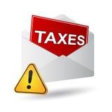 Covert taxes. Icon on a white background Royalty Free Stock Photos