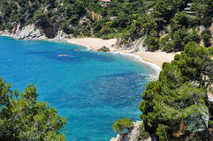Coves of Cala Llorell in Tossa de Mar, Spain Royalty Free Stock Photo