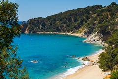Coves of Cala Llorell in Tossa de Mar, Spain Royalty Free Stock Photography